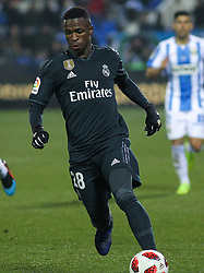 January 16, 2019 - Leganes, Madrid, Spain - Vinicius Jr. of Real Madrid in action during the King Spanish championship, , football match between Leganes and Real Madrid on January 16th at Butarque Stadium in Leganes, Madrid, Spain. (Credit Image: © AFP7 via ZUMA Wire)