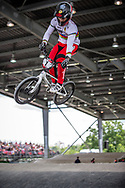 #1 (ANDRE Sylvain) FRA at Round 6 of the 2019 UCI BMX Supercross World Cup in Saint-Quentin-En-Yvelines, France