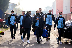Bristol Rovers arrive at Walsall for their Emirates FA Cup tie - Mandatory by-line: Robbie Stephenson/JMP - 07/11/2020 - FOOTBALL - Banks's Stadium - Walsall, England - Walsall v Bristol Rovers - Emirates FA Cup First Round