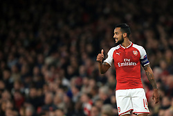 2 November 2017 -  UEFA Europa League (Group H) - Arsenal v Red Star Belgrade - Theo Walcott of Arsenal gives a thumbs up - Photo: Marc Atkins/Offside