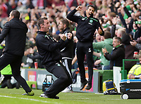 31/10/15 LADBROKES PREMIERSHIP<br /> CELTIC v ABERDEEN<br /> CELTIC PARK - GLASGOW<br /> Celtic manager Ronny Deila celebrates as his side takes the lead
