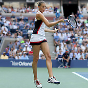 2016 U.S. Open - Day 13  Karolina Pliskova of the Czech Republic in action against Angelique Kerber of Germany in the Women's Singles Final on Arthur Ashe Stadium on day thirteen of the 2016 US Open Tennis Tournament at the USTA Billie Jean King National Tennis Center on September 10, 2016 in Flushing, Queens, New York City.  (Photo by Tim Clayton/Corbis via Getty Images)