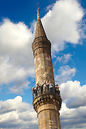 The Kethuda minaret, with a cross and the Turkish moon on top  , Eger, Hungary .<br /> <br /> Visit our HUNGARY HISTORIC PLACES PHOTO COLLECTIONS for more photos to download or buy as wall art prints https://funkystock.photoshelter.com/gallery-collection/Pictures-Images-of-Hungary-Photos-of-Hungarian-Historic-Landmark-Sites/C0000Te8AnPgxjRg