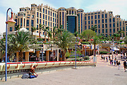 Eilat, pop. 55,000, is Israel's southernmost city in the Southern District of Israel. Adjacent to the Egyptian city of Taba and Jordanian port city of Aqaba, Eilat is located at the northern tip of the Gulf of Aqaba, which is the eastern sleeve of the Red Sea.
