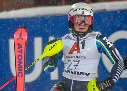 08.01.2019, Hermann Maier Weltcupstrecke, Flachau, AUT, FIS Weltcup Ski Alpin, Slalom, Damen, 2. Lauf, im Bild Magdalena Fjaellstroem (SWE) // Magdalena Fjaellstroem of Sweden reacts after her 2nd run of ladie's Slalom of FIS ski alpine world cup at the Hermann Maier Weltcupstrecke in Flachau, Austria on 2019/01/08. EXPA Pictures © 2019, PhotoCredit: EXPA/ Erich Spiess