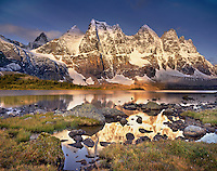 The Ramparts from Amethyst Lake in the Tonquin Valley Jasper National Park Alberta Canada