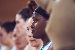 Shante Marie Evans of Slovenia during Women's Basketball - Slovenia vs Slovaska on the 14th of June 2019, Dvorana Poden, Skofja Loka, Slovenia. Photo by Matic Ritonja / Sportida