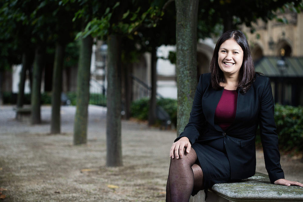 Shadow Energy and Climate Change Lisa Nandy portrait  at The Houses of Parliament in  London 17 September 2015.<br /> Labour MP for Wiggan who has been appointed shadow Energy and Climate Change Secretary.<br /> Photos Ki Price