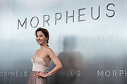 Hong Kong supermodel Kathy Chow poses for photographers on the red carpet, during Melco Morpheus building Opening in Macau, China, on 15 June 2018. Photo by Lucas Schifres