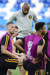 June 27, 2018 - Kaliningrad, Russie - KALININGRAD, RUSSIA - JUNE 27 : Thierry Henry ass. coach of Belgian Team pictured during a training session of the National Soccer Team of Belgium prior to the FIFA 2018 World Cup Russia group G phase match between England and Belgium at the Kaliningrad Stadium on June 27, 2018 in Kaliningrad, Russia, 27/06/2018 (Credit Image: © Panoramic via ZUMA Press)