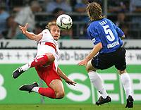 Fotball<br /> Bundesliga Tyskland<br /> Foto: Witters/Digitalsport<br /> NORWAY ONLY<br /> <br /> 20.08.2006<br /> v.l. Daniel Bierofka, Ruediger Kauf Bielefeld<br /> Fussball Bundesliga DSC Arminia Bielefeld - VfB Stuttgart
