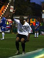 Photo: Mark Stephenson/Sportsbeat Images.<br /> Stockport County v Hereford United. Coca Cola League 2. 17/11/2007.Lional Ainsworth celebrates his 2ed goal