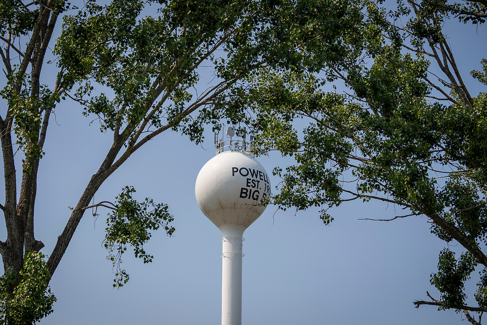 Powell Township watertower in Big Bay, Michigan.