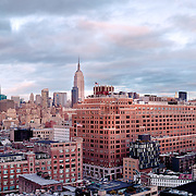 New York City Skyline panoramic as seen from MeatPack.