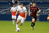 13 December 2015: Clemson's Austen Burnikel (20) and Stanford's Ty Thompson (7). The Clemson University Tigers played the Stanford University Cardinal at Sporting Park in Kansas City, Kansas in the 2015 NCAA Division I Men's College Cup championship match. Stanford won the game 4-0.