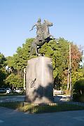 Statue of Georgios Karaiskakis (1782-1827) liberator of Greece on his horse,  Athens, Greece