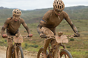 Ariane Kleinhans (front) and Annika Langvad of team RECM2 during stage 2 of the 2014 Absa Cape Epic Mountain Bike stage race from Arabella Wines in Robertson, South Africa on the 25 March 2014<br /> <br /> Photo by Greg Beadle/Cape Epic/SPORTZPICS