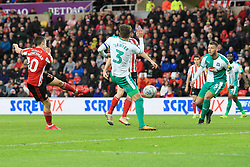 March 2, 2019 - Sunderland, England, United Kingdom - Sunderland's George Honeyman scoring his side's second goal during the Sky Bet League 1 match between Sunderland and Plymouth Argyle at the Stadium Of Light, Sunderland on Saturday 2nd March 2019. (Credit Image: © Mi News/NurPhoto via ZUMA Press)