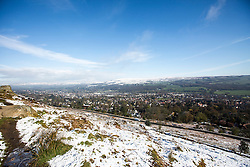 © Licensed to London News Pictures. 28/04/2016. Ilkley UK. Picture shows snow on Ilkley moor as Yorkshire woke to a covering of snow this morning. Photo credit: Andrew McCaren/LNP