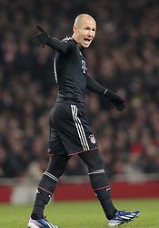 19-02-2013 VOETBAL: CHAMPIONS LEAGUE FC ARSENAL - FC BAYERN MUNCHEN: LONDEN<br /> Arjen Robben during the UEFA Champions League last sixteen first leg match between Arsenal FC and FC Bayern Munich at the Emirates Stadium<br /> ***NETHERLANDS ONLY***<br /> ©2012-FotoHoogendoorn.nl