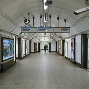 Empty Oxford Street, Regent Street and underground usually full of people walking window browsing. The #coronovirus the street is empty on 17th March 2020, London, UK.