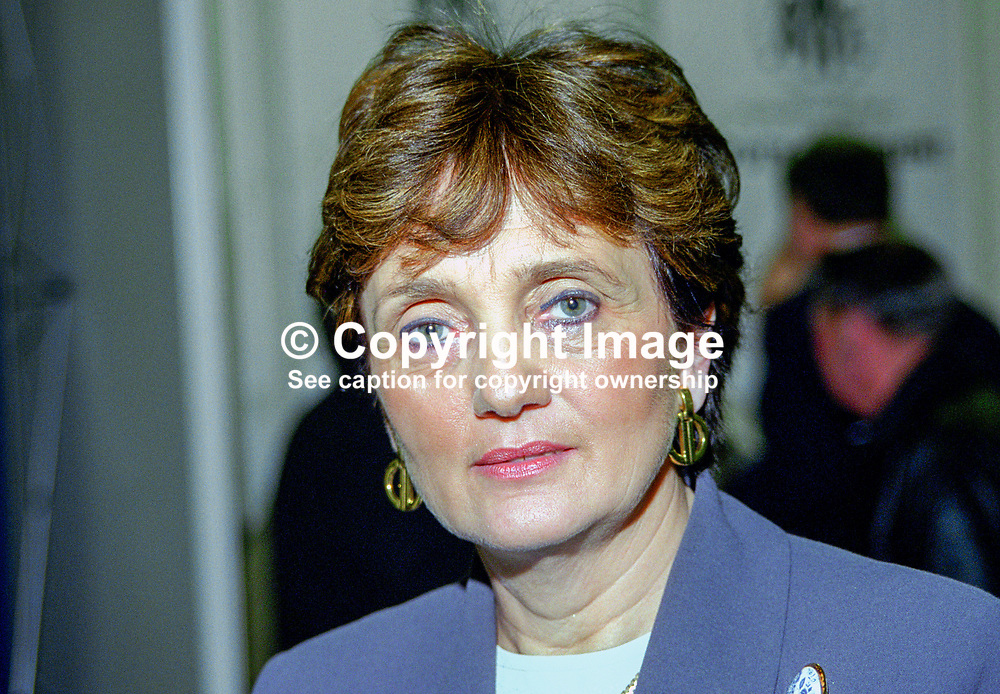 Theresa Ahearn, TD, Fine Gael, Rep of Ireland, 199902013.<br /> <br /> Copyright Image from Victor Patterson, Belfast, UK<br /> <br /> t: +44 28 9066 1296 (from Rep of Ireland 048 9066 1296)<br /> m: +44 7802 353836<br /> <br /> victorpattersonbelfast@gmail.com<br /> <br /> www.victorpatterson.com OR <br /> www.images4media.com<br /> <br /> Please see my Terms and Conditions of Use at https://www.victorpatterson.com/page2<br /> It is IMPORTANT that you familiarise yourself with them.<br /> <br /> Images used on the Internet incur an additional cost and must be visibly watermarked i.e. © Victor Patterson within the body of the image and copyright metadata must not be deleted. Images used on the Internet have a size restriction of 4 kbs and are chargeable at rates available at victorpatterson.com.<br /> <br /> This image is only available for the use of the download recipient i.e. television station, newspaper, magazine, book publisher, etc, and must not be passed on to any third party. It is also downloaded on condition that each and every usage is notified within 7 days to victorpattersonbelfast@gmail.com.<br /> <br /> The right of Victor Patterson to be identified as the author is asserted in accordance with The Copyright Designs And Patents Act (1988). All moral rights are asserted.