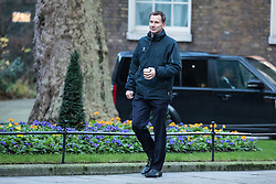 © Licensed to London News Pictures. 10/01/2017. London, UK. Health Secretary Jeremy Hunt arrives on Downing Street ahead of the weekly Cabinet meeting. Photo credit: Rob Pinney/LNP