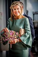 Koningin Maxima is aanwezig bij de tweede Koning Willem I Lezing over ondernemerschap bij kwekerij