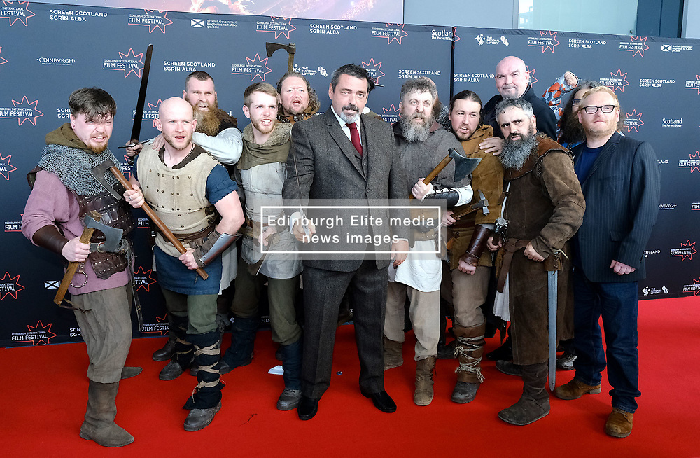 Edinburgh International Film Festival 2019<br /> <br /> Robert The Bruce (World Premiere) <br /> <br /> Pictured: Angus Macfadyen with actors from the film<br /> <br /> Alex Todd   Edinburgh Elite media