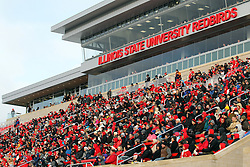 06 December 2014:  Normal Illinois.  Fans fill the new east side stands of Hancock Stadium (opened in 2013) during a 1st round FCS NCAA football game between the Panthers of Northern Iowa and the Redbirds of Illinois State in Hancock Stadium.  Illinois State won the game 41-21.