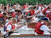 2001 0603 Dragon Boat Racing, River Nene, Peterbourough, Cambridgeshire. UK