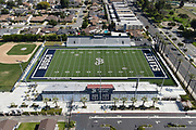 A general view of Panish Family Stadium at St. John Bosco High School amid the global coronavirus COVID-19 pandemic, Saturday, June 27, 2020, in Bellflower, Calif. The  36-acre campus is the largest private school campus in California.