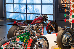 Drag Racing: America's Fast Time - exhibition at the Harley-Davidson Museum during the Milwaukee Rally. Milwaukee, WI, USA. Saturday, September 3, 2016. Photography ©2016 Michael Lichter.