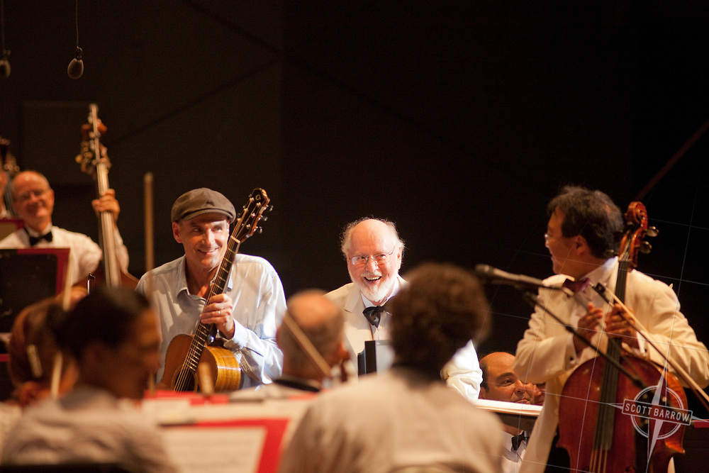 James Taylor, YoYo Ma and John Williams perform at Tanglewood in Lenox, Stockbridge, MA.