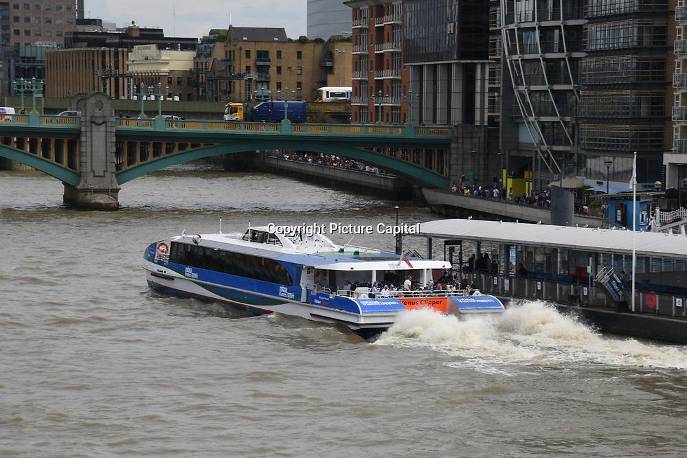 London Eye River Cruise on 18 July 2019, City of London, UK.