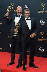 Keegan-Michael Key & Jordan Peele  im Press Room bei der Verleihung der 68. Primetime Emmy Awards in Los Angeles / 180916<br /> <br /> *** 68th Primetime Emmy Awards in Los Angeles, California on September 18th, 2016***
