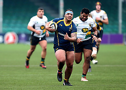 Kai Owen (Telford College of Arts of Worcester Warriors U18 runs with the ball - Mandatory by-line: Robbie Stephenson/JMP - 22/01/2017 - RUGBY - Sixways Stadium - Worcester, England - Worcester Warriors U18 v Northampton Saints U18 - Premiership Rugby U18 Academy League
