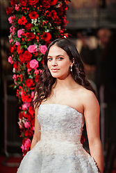 © Licensed to London News Pictures. 13/02/2014. London, UK. Jessica Brown Findlay as she attends during A New York Winter's Tale premiere outside the Odeon Kensington. Photo credit : Andrea Baldo/LNP