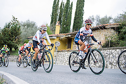 Ashleigh Moolman-Pasio and Mayuko Hagiwara take on the longest climb of the day - 2016 Strade Bianche - Elite Women, a 121km road race from Siena to Piazza del Campo on March 5, 2016 in Tuscany, Italy.