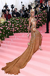 """Photo by: Doug Peters/starmaxinc.com<br />STAR MAX<br />©2019<br />ALL RIGHTS RESERVED<br />Telephone/Fax: (212) 995-1196<br />5/6/19<br />Winnie Harlow at the 2019 Costume Institute Benefit Gala celebrating the opening of """"Camp: Notes on Fashion"""".<br />(The Metropolitan Museum of Art, NYC)"""