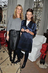 Left to right, LADY KINVARA BALFOUR and CHRISTA D'SOUZA at a lunch hosted by Roger Vivier held at Bella Pollen's home, 5 Stanley Crescent , London on 29th January 2013.