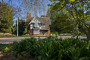 College Lodge at the main entrance (College Gate) of Dulwich Park in south London.
