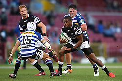 Sibusiso Sithole of the Sharks attempts to step past Cheslin Kolbe of Western Province during the Currie Cup Premier Division match between the DHL Western Province and the Sharks held at the DHL Newlands Rugby Stadium in Cape Town, South Africa on the 3rd September  2016<br /> <br /> Photo by: Shaun Roy / RealTime Images