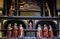 République d'Irlande, Dublin, la Cathedrale Saint Patrick, monument funeraire de la famille Boyle, 1632 // Republic of Ireland; Dublin, St Patrick's cathedral church is a national church of Republic of Ireland, Bowle's family tomb dating from 1632