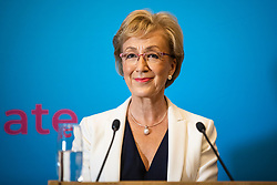 © Licensed to London News Pictures. 11/06/2019. London, UK. Former Leader of the House of Commons Andrea Leadsom, who is running to be Leader of the Conservative Party and the next Prime Minister, speaks at the official launch event for her campaign. Photo credit: Rob Pinney/LNP