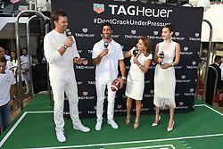 Tom Brady, Daniel Ricciardo, Geri Halliwell Horner and Model Bella Hadid attend the TAG Heuer event during the Formula 1 Grand Prix de Monaco on May 26, 2018 in Monaco, Monaco. Photo by Laurent Zabulon/ABACAPRESS.COM