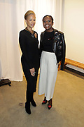 """NEW YORK, NEW YORK-FEBRUARY 13: (L-R) Tonya Lewis Lee and Debra Roberts attends """"CAPTURED"""" the Fall/Winter Collection 2019 presented by Designer Aisha McShaw during New York Fashion Week and held at the Gallery at Prince George Ballroom on February 11, 2019 in New York City.  (Photo by Terrence Jennings/terrencejennings.com)"""
