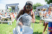 Attendees at the Red Bull Breakfast Club at the Firefly Music Festival in Dover, DE on June 22, 2014.