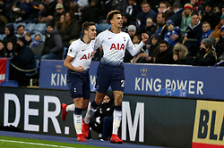 Tottenham Hotspur's Dele Alli (right) celebrates scoring his side's second goal of the game