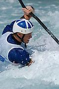 20040820 Olympic Games Athens Greece [Kayak Slalom Racing].Olympic Canoe/ Kayak Centre.GBR K1 Bronze medal winner, Campbell Walsh. first run.Photo  Peter Spurrier..Images@intersport-images.com.Tel +44 7973 819551.